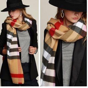 Accessories - Beige Oversized scarf
